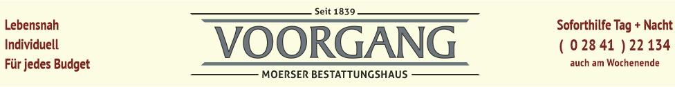 Bestattungshaus Voorgang in Moers seit 1839